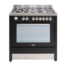 Euro Cooktops Euro Emd900fan 90cm Satin Black Dual Fuel Stove Sa Appliance