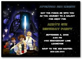 how to make star wars birthday party invitations