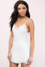 white dress lace trim dress white tank dress bodycon dress 11