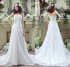 garden wedding dresses 2016 chiffon wedding dresses strapless pleated a
