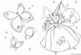 coloring page fairy in a beautiful garden
