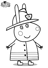 peppa pig coloring pages rabbit coloringstar