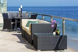 beautiful black wood modern design outdoor dining lounge sets
