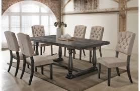 Grey Dining Table And Chairs Traditional Dining Rooms Discount Furniture Store