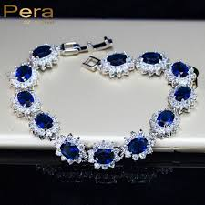 sapphire crystal bracelet images Pera vintage royal jewelry sterling 925 silver oval blue cubic jpg