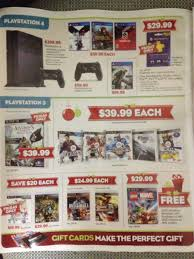 black friday ps4 games leaked gamestop black friday flyer has xbox one on page 2 ps4 on