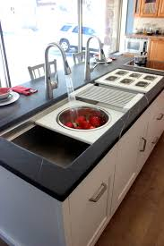 Huge Stainless Steel Sink With Two Sides For Dishes And A Separate - Large kitchen sinks stainless steel