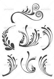 beautiful floral ornament design elements by bloodsugar graphicriver