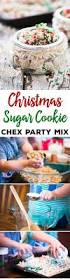 this christmas sugar cookie chex party mix recipe is a fun way to