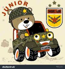 jeep vector bear soldier on military jeep vector stock vector 574508869
