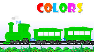 the train color song colours for children to learn with train