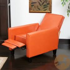 Red Leather Reclining Chair Amazon Com Christopher Knight Home Darvis Tan Black Orange