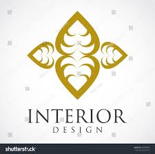 interior design elegant logo gold element stock vector 289890095