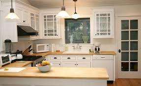 Kitchens With A Butcher Block Countertop Kitchen Decor - White kitchen cabinets with butcher block countertops