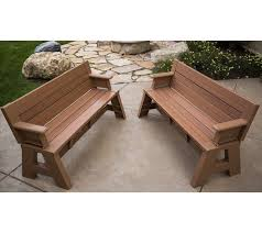 coral coast ft outdoor wood backless bench dark brown images on