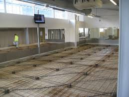 isolated acoustic concrete up floating floors were