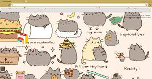 chrome themes cute theme google chrome pusheen the cat by meel editionss on deviantart