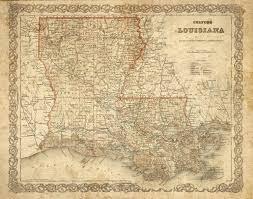 Map Louisiana by Colton U0027s 1886 Old Louisiana Map Historic Map Antique Restoration