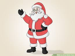 draw santa claus 14 steps pictures wikihow