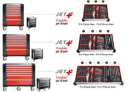 Mobile Tool Storage Cabinets Jet 3 Mobile Tool Cabinet 9 Drawer Red Jet 9m3 Frt