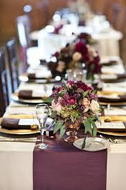 Decorating With Plum 18 Table Runners That Will Transform Your Wedding Table Gold