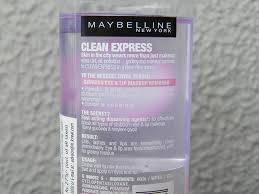 review and demo maybelline total clean express eye and lip makeup remover 8