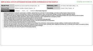 Machine Operator Job Description For Resume by Appraiser Trainee Cover Letter