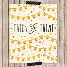 halloween trick or treat sign printable freebie free download