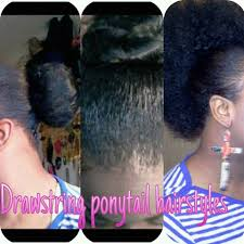 4 different hairstyles using drawstring ponytail youtube