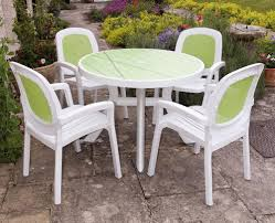 white plastic patio furniture