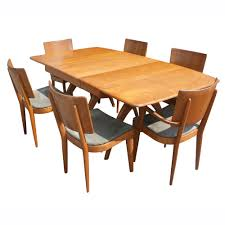 heywood wakefield dining room set table with 631655 heywood 76 034 heywood wakefield triple pedestal dining table ebay