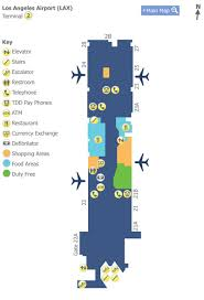 lax gate map los angeles airport lax terminal 2 map map of terminal 2 at