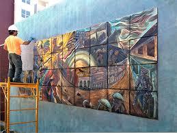 Installing Ceramic Wall Tile Outdoor Installations Of Tile Murals Natalie Studios