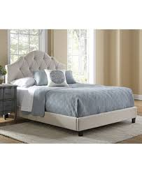lucille all n one fully upholstered tufted saddle queen size bed