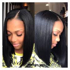 bob sew in hairstyle sew weave bob hairstyles bangs invisible parting part medium