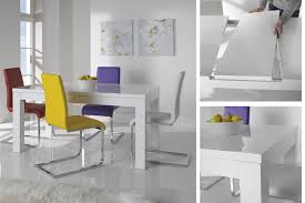 Black Gloss Dining Room Furniture Endearing White Gloss Dining Table And Chairs White High Gloss