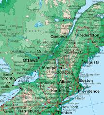 northeastern cus map northeastern states topo map