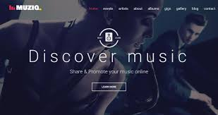 one page music related templates