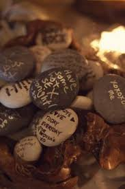 wishing rocks for wedding stones are beautiful displayed and using them as an alternative