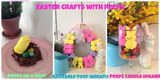 peeps decorations easter crafts with peeps peep wreath peeps on a nest and peeps
