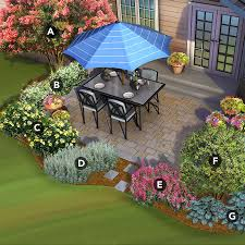 Patio And Garden Ideas South Patio Landscaped With Crape Myrtle Confederate Jasmine