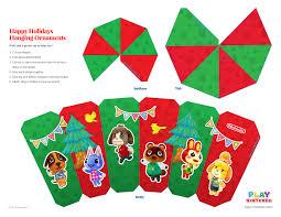 animal crossing free printable ornament play nintendo