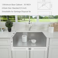 what size undermount sink for 33 inch base cabinet stainless steel 30 l x 22 w undermount kitchen sink