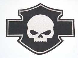 patch embroidery harley davidson skull 25cm x 19cm los parches