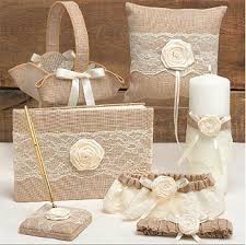 wedding items rustic country wedding accessories burlap lace guest book