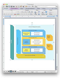 how to add a block diagram to a ms word document using