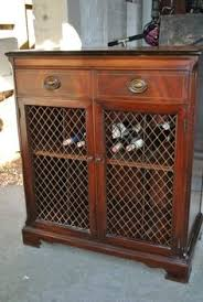 antique record album cabinet traditional deep brown wooden vinyl album storage with shelfs and