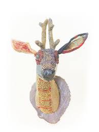 fake deer animal friendly faux taxidermy handmade in england