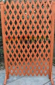 traliccio legno steccato estensibile legno gazebo giardino 120x150h ciliegio