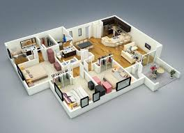 three bedroom house plans 3 bedroom house plans 3d fascinating more 3 bedroom floor plans